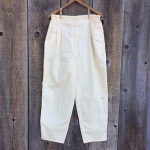 VTG 90s Pale Yellow Trousers / Dad Pants, 14P